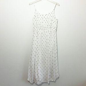 LOFT Polka Dot Strappy Dress Women's Size Large